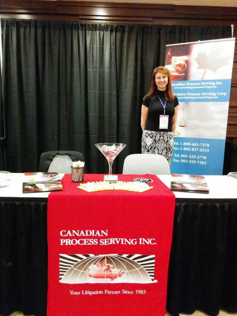 Always service with a smile from the staff at Canadian Process Serving, here we are at the annual Canadian Bar Association Conference